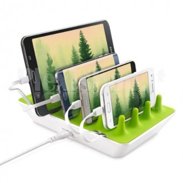 Docking Station 4 Porte USB Ricarica Smartphone e Tablet Zentree