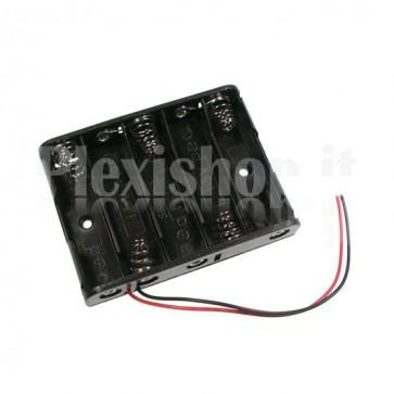 Portabatterie a 5 celle di tipo AA