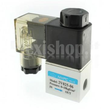 "Elettrovalvola pneumatica per aria 2V025-06, G1/8"""