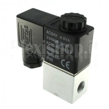 "Elettrovalvola pneumatica per aria 2V025-06, G1/8"" 24Vac"