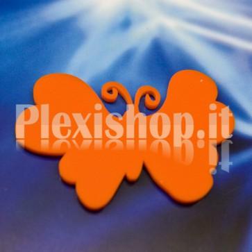 2 Farfalle Arancioni in Plexiglass