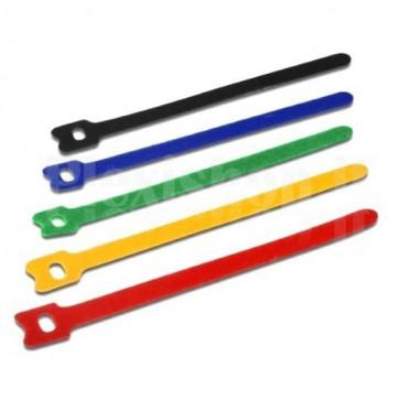 Fascette Fermacavo Multicolor in Velcro Set da 10 pz