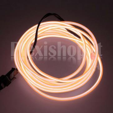 Filo elettroluminescente ARANCIONE Ø 2.3 mm - 5m