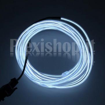 Filo elettroluminescente BIANCO Ø 2.3 mm - 5m