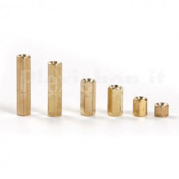 Distanziale metallico esagonale femmina/femmina da 6mm