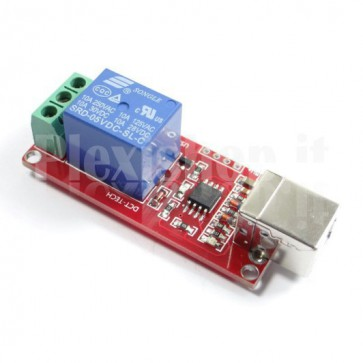 Modulo Relay USB a 1 canale, 10A