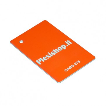 GABS-275F - ABS Bicolore Arancione Fluorescente/Bianco 1,5 mm