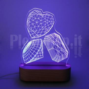 Lampada 3D Gioielli RGB