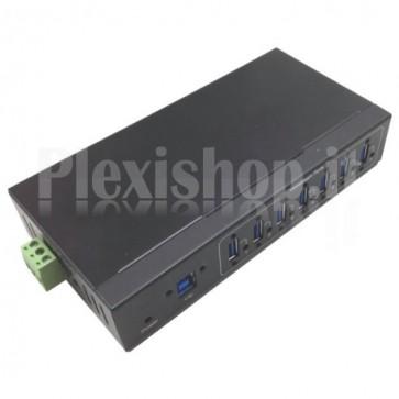 Hub Industriale USB 3.0 7 Porte Nero