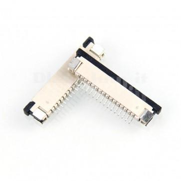 Connettore SMT da circuito stampato per cavo piatto FFC / FPC , 15P passo 1.0mm
