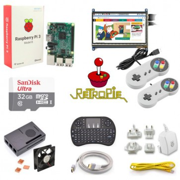 Kit RetroPie con display LCD touchscreen 7""