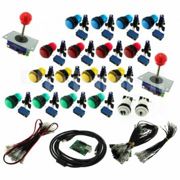 Kit DIY Arcade joystick e pulsanti retroilluminati - due giocatori