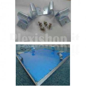 Kit di Montaggio Superficiale su Staffa a S per Pannelli LED