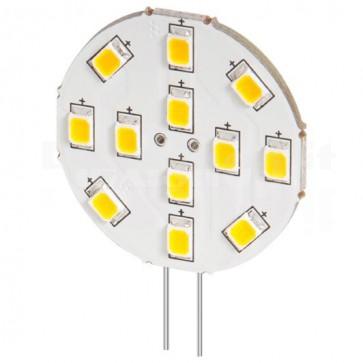 Lampada 12 LED SMD G4 5050 2W 190 Lumen Bianco Freddo, A++