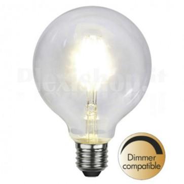 Lampada a LED E27 G95 4,7W 470lm Bianco Caldo Dimmerabile, Classe A+