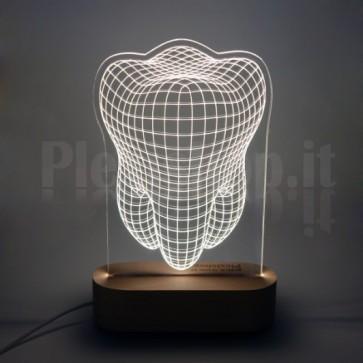 Lampada Dente Bianca in Plexiglass