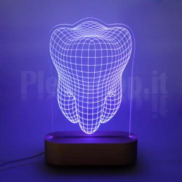 Lampada 3D Dente RGB