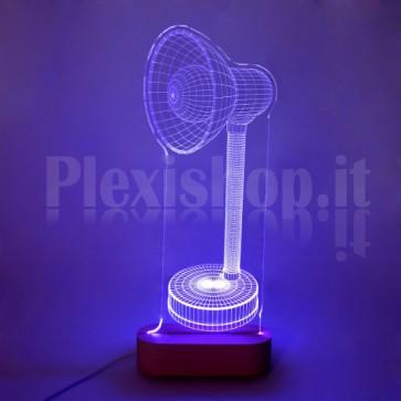 Lampada 3D Dritta RGB