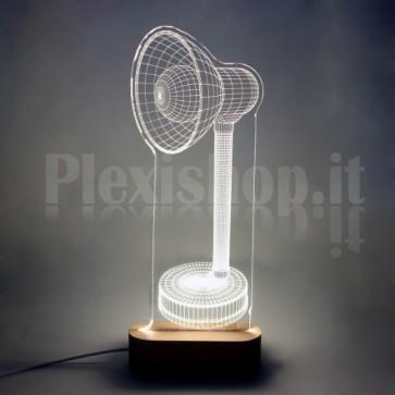 Lampada 3D Dritta Bianca