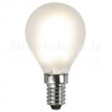 Lampada LED E14 Smerigliata Bianco Caldo 1,8W Filamento Classe A+