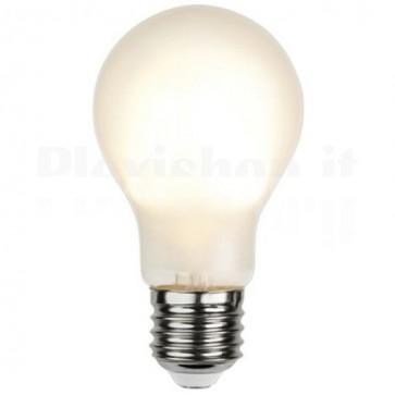Lampada LED E27 Smerigliata 4.8W Filamento Dimmerabile Classe A++