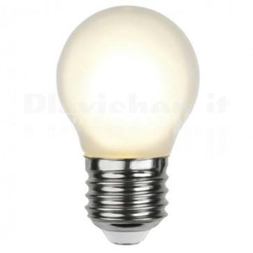 Lampada LED E27 Smerigliata Bianco Caldo 1,8W Filamento Classe A+