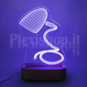 Lampada 3D Serpentina RGB