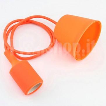 Lampadario portalampada E27 in silicone - Arancione