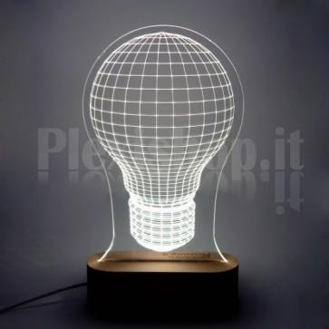 Lampada 3D Incandescenza Bianca