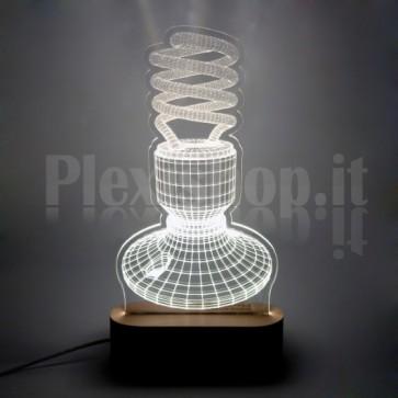 Lampada 3D Neon Bianca