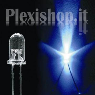 10 LED 5mm Luce Blu - 4000 Mcd