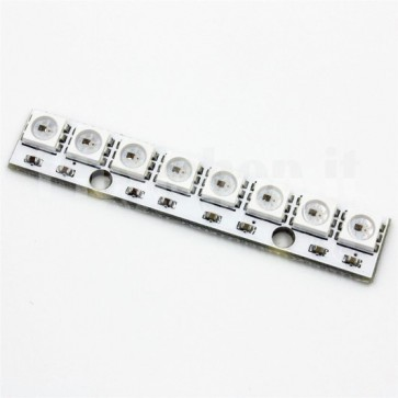 Barra LED NeoPixel RGB con 8 LED SMD WS2812