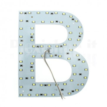 Lettera luminosa a Led - B