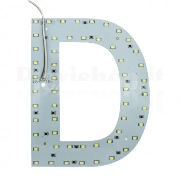 Lettera luminosa a Led - D
