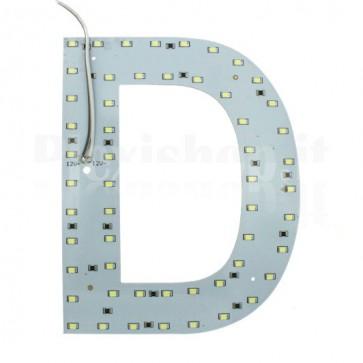 Lettera luminosa a Led - D