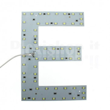 Lettera luminosa a Led - E