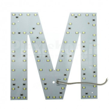 Lettera luminosa a Led - M