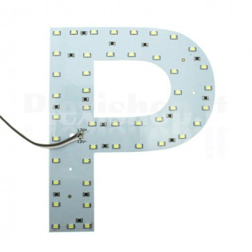Lettera luminosa a Led - P