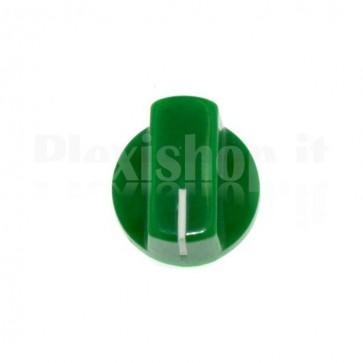 Manopola KN19 in abs per potenziometri - Verde