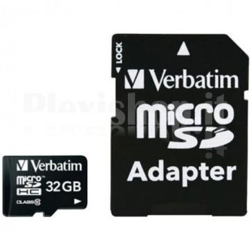 Memoria Micro SDXC 32 Gb con Adattatore - Classe 10