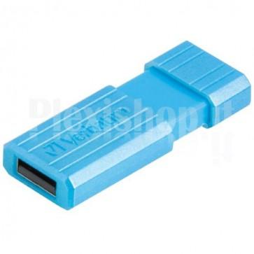 Memoria USB 2.0 PinStripe da 16Gb Colore Azzurro