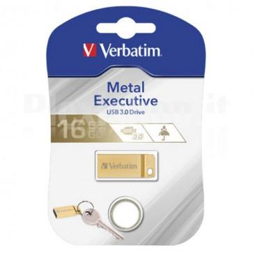 Memoria USB Verbatim con Portachiavi 16GB Oro