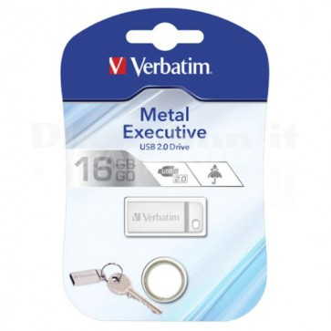 Memoria USB Verbatim con Portachiavi 16GB Silver