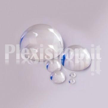 Semisfera in Plexiglass Stampata Ø15 mm Trasparente