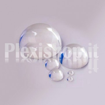 Semisfera in Plexiglass Stampata Ø20 mm Trasparente