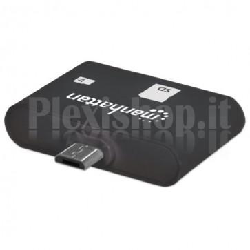 Mini Lettore Micro USB di Memorie SD-MicroSD per Smartphone e Tablet