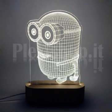 Lampada 3D Minion Bianca