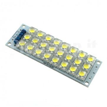 Modulo a 24 LED ad altissima luminosità, 12Vcc