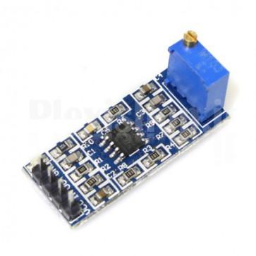 Modulo amplificatore a guadagno regolabile con operazionale LM358