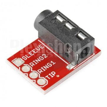 Modulo presa jack 3.5mm a 4 conduttori (TRRS)